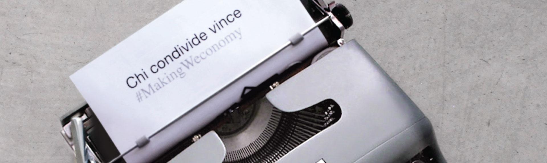 Making Weconomy: una nuova primavera per l'impresa